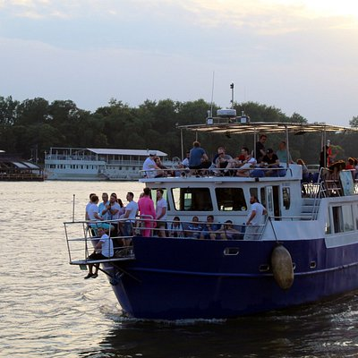 The Nikola Tesla Expedition Boat During The Sunset 🌇😍  Departures Every Day @ 4 P.M. 6 P.M and 8 P.M. ⛵