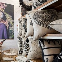 Exclusive designs on our handmade linen cushions. Giovanna Tribal Photography