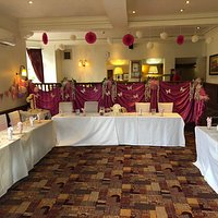 Our function room beautifully decorated for a first birthday
