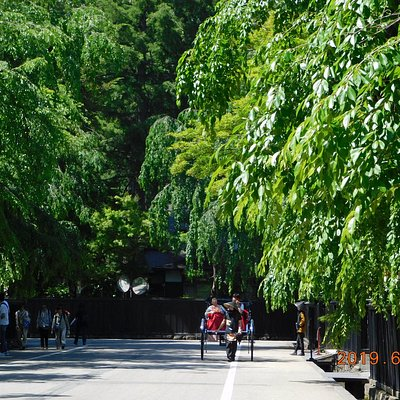 昼間の武家屋敷通り 景観一例