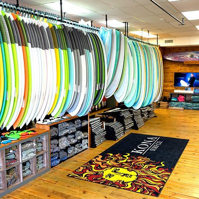 Stocked with performance boards, grovelers, fishes, midlength and longboards.