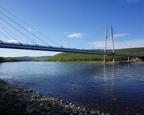 The bridge over River Tenojoki