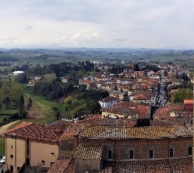 Panorama of Vinci from the tower