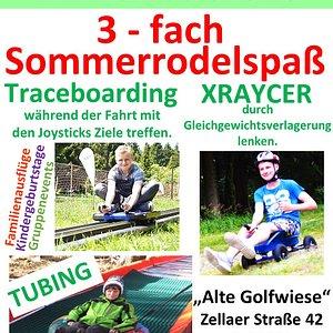 3-fach Sommerrodelspaß Sommerrodelbahn , besonders geeignet für Kinder