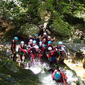 Canyon Gorge du Loup amazing group Azurcanyoning Nice cannes monaco
