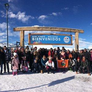 Familia Panatour en tour Valle Nevado y Farellones.