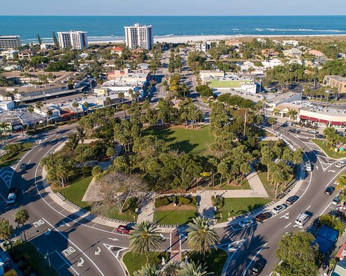 Ariel view of St. Armands Circle