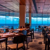 The Restaurant on Level 2 overlooking spectacular ocean views