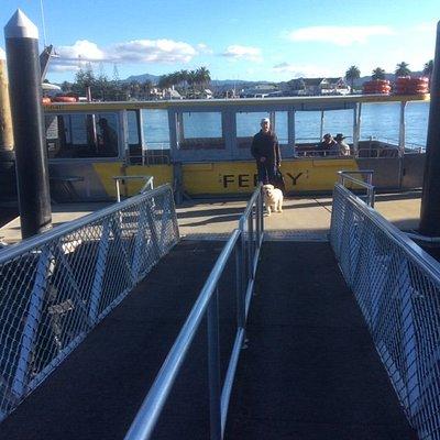 Embarking at Ferry Landing