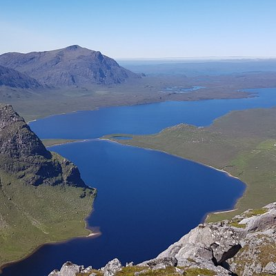 The Dubh Loch and Fionn Loch, looking back towards Poolewe