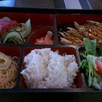 Chicken Teriyaki with Tuna Sashimi