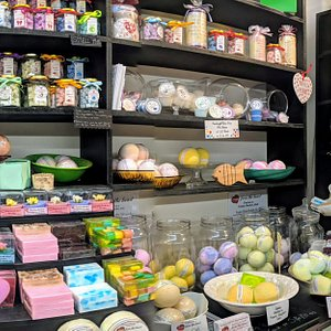 A huge variety of bath and body products
