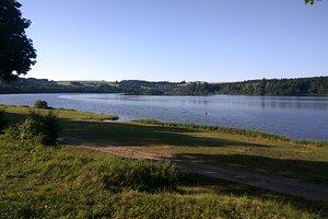 """Kemp """"moře u rybníka"""" Krucemburk. Příroda krásná, kemp na úrovni Balkánu před 30lety.... záchody,sprchy..... :-( :-)"""