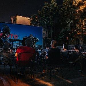 Open air cinema at Nafplio