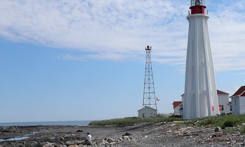 Lighthouse near Rimouski, Quebec, Canada