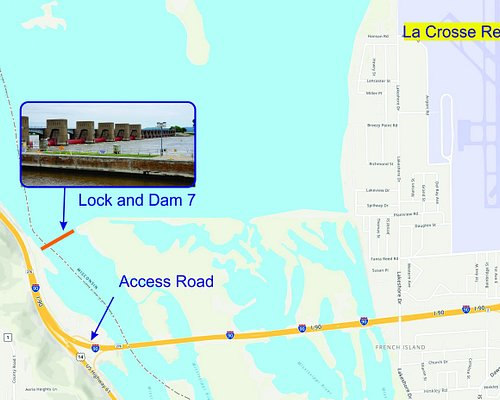 This shows the Lock/Dam 7 Location and access.... I had difficulty finding its location.  It was not included in Trip Advisor and did not appear on web-based maps.