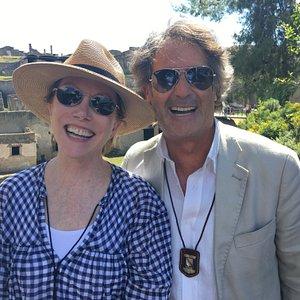 My wife with Gaetano.