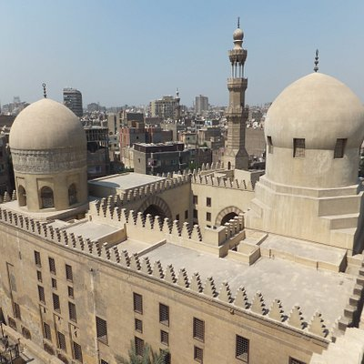View of the Madrasa while climbing Ibn Tulun's minaret next door.