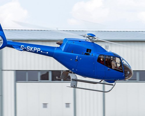 Fly in our beautiful EC120B helicopter and see the sights from the panoramic windows!