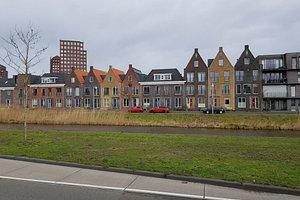 mooie huizen te zien ook vanaf de snelweg