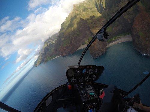 Open Door Helicopter on the Napali Coast, Kauai.