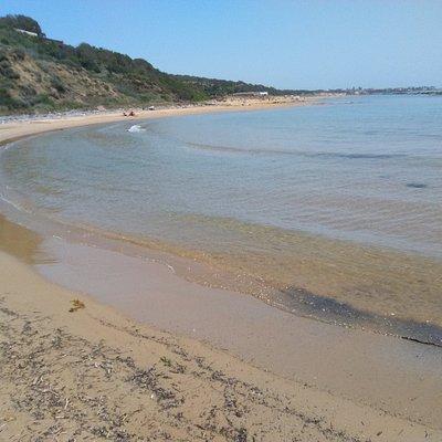 El extremo septentrional de la playa.