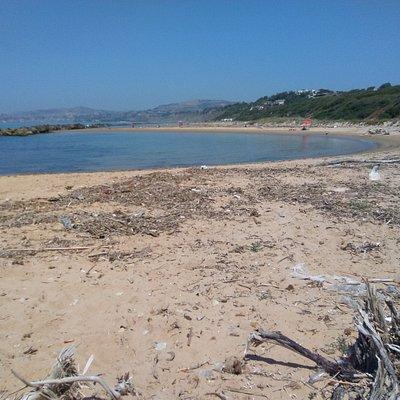 Una de las playas semicirculares.