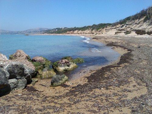Caminando hacia la playa desde el S.