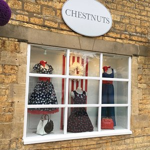 Our store's side window - displaying a range from our retro collection.