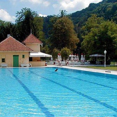 In hot summer days visit Samobor spa.