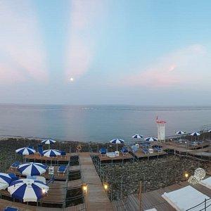 Panoramica di Relax Leuca al tramonto