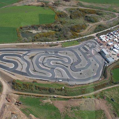 An aerial view of Kiltorcan Raceway