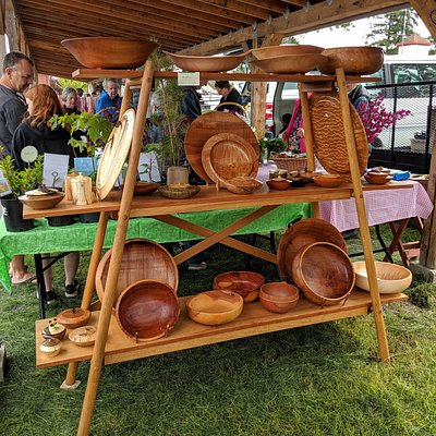 Local woodworker display