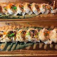 Spider roll-soft shell crab tempura