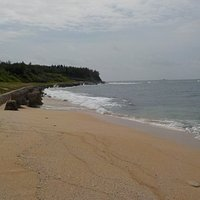 裡正角海灘一景