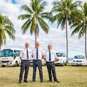 Our fleet and friendly drivers ready to welcome you to paradise.