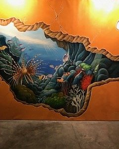 """RE: Surprise Your Eyes"""" attraction: This is one of the many pictures on the wall. You stand in front of it and have someone take your picture or you take a selfie with that as the background and that is what they describe as 3D optical illusion pop up art. UGH!!"""