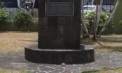 Monument of Simón Bolívar in Bideau Park