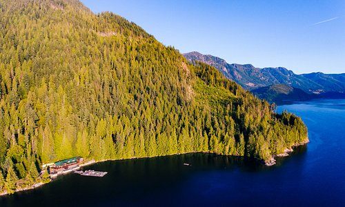 Homfray Lodge, our overnight for the Desolation Sound Cruise