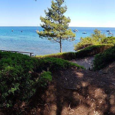 spiaggia ampia, fondare bellissimo, all'interno di un parco. Esperienza unica