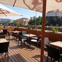 Our new terrace! More seating, more fun.