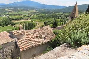 View from the top of the hilltop town of Crestet, looking toward Mont Ventoux