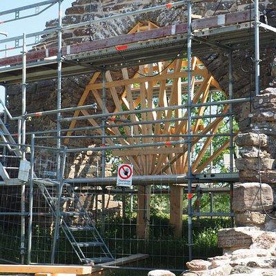 Sankt Knuts Kapell. Ruinen sikres mod yderligere forfald.