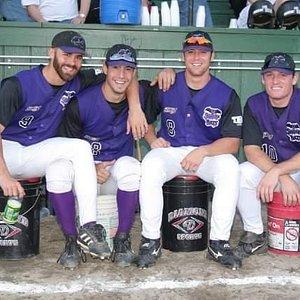 Keene Swamp Bats teammates