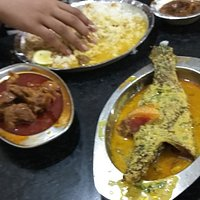 A Sample of Mutton and Vetki Rice Thali