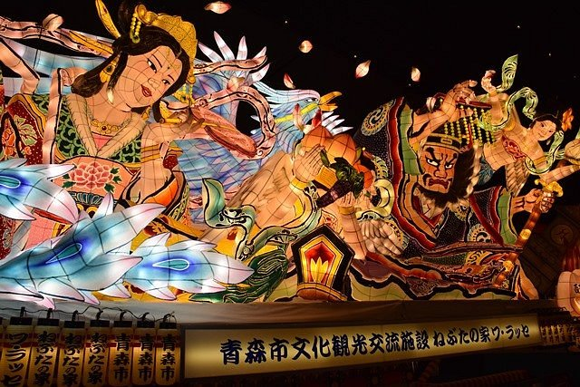 Colourful Nebuta float
