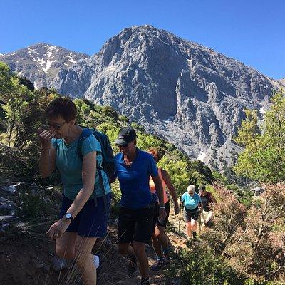 Hiking to  Gigilos 2.080m mountain Omalos Valley  Chania Crete
