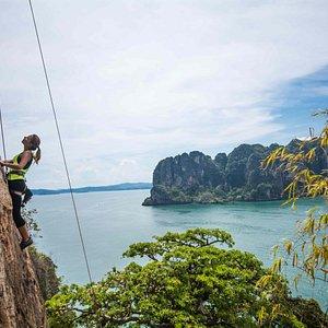 rock climbing for beginners in Krabi, Thailand
