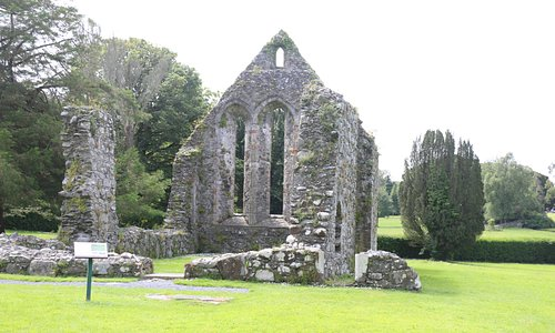 Grey Abbey shows the workmanship of stone masons who created architecture between Romanesque and Gothic style.