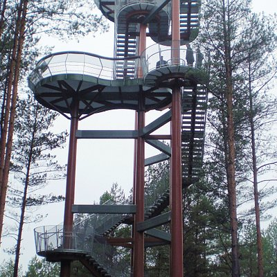 Merkine observation tower is located by Nemunas river near the centre of the town. It's worth to visit for all ages of tourists.